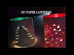 handmade 3d paper lanterns decoration idea diy youtube