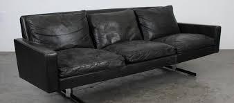 modern leather chrome sofa mid century modern black leather sofa with chrome legs for