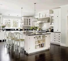 Kitchen Ideas White Cabinets Black Countertop White Kitchen Black