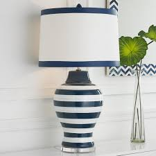 amazing white table lamp shade 49 navy and blue