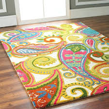 bright area rugs solid colored blue green