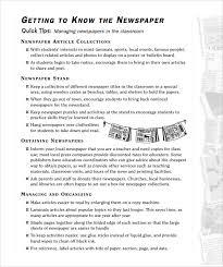 Newspaper Article Word Template Sample School Newspaper 5 Documents In Pdf Word