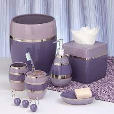 Pin By Ariel Bordelon On Home Sweet Home 3 Purple Bathrooms Purple Bathroom Decor Purple Bathroom Accessories