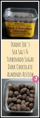 trader joe s sea salt and turbinado sugar dark chocolate almonds review is posted on beebetty with pictures and nutritional