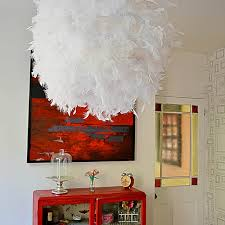make your own gorgeous diy feather lampshade this simple ikea will add a touch