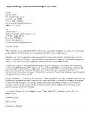 Cover Letter For Marketing Job Sample Professional Resume