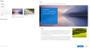 Create Sharepoint Site Template How To Create A Blog With Modern Sharepoint News Pages Petri