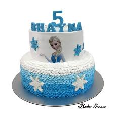 Frozen Theme 2 Tiers Cake With Side Decorated Bakeavenue