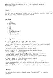 Sample Resume For Entry Level Network Technician Resume Ixiplay