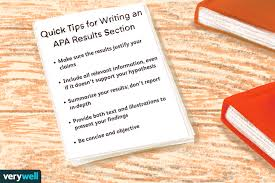 how to write an apa results section