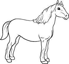 Race Horse Coloring Pages To Print Horse Coloring Pictures For