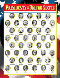 Us Presidents Chart Presidents Of The United States Poster Chart