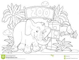 Small Picture Zoo clipart coloring page Pencil and in color zoo clipart