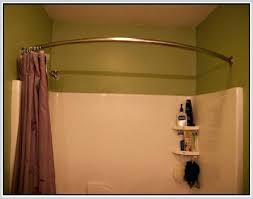 stall shower curtain rod image of curved shower curtain rod brushed nickel adjule stall tension shower curtain rod 23 40