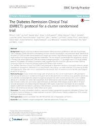 Pdf The Diabetes Remission Clinical Trial Direct
