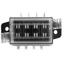 midland chandlers electrical electrics > fuse holders canal and blade fuse box complete transparent cover and gasket the cable connections are made using