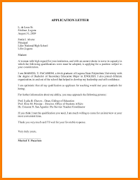 Application Letter For High School Teacher Fresh Graduate