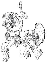 Printable Coloring Pages horse coloring pages to print for free : Coloring Pages: carousel horse coloring pages. Free Printable ...