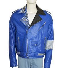 blue colorjacket silver studs shoulder