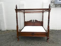 6ft Wide Antique Four Poster Bed - Victorian Manner Super King Sized ...