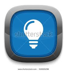 vector square blue icon lighting bulb. light bulb icon vector square blue lighting i