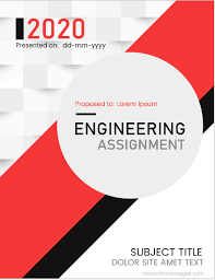 Project Front Page Sample Engineering Assignment Cover Page Templates Ms Word Cover