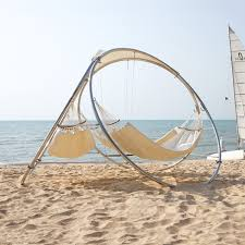 trinity hammocks  relaxing outdoor architecture  touch of modern