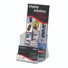 dl brochure holder with business card holder