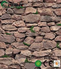 china 3d texture stone wall paper