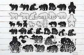 On this page presented 35+ african silhouette photos and images free for download and editing. Bear Silhouette Svg Black Outline With Dxf Png Eps Jpeg Ohmycuttables Crafters Svgs In 2020 Bear Silhouette Silhouette Svg Outline