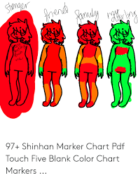 97 Shinhan Marker Chart Pdf Touch Five Blank Color Chart