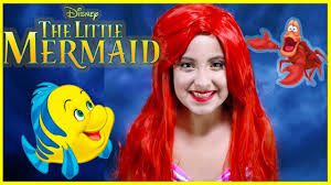 disney s ariel makeup tutorial the little mermaid costume flounder kids toys princess