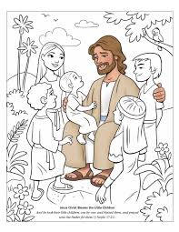 Jesus With Children Coloring Pages For Kids Jesus Loves The Little