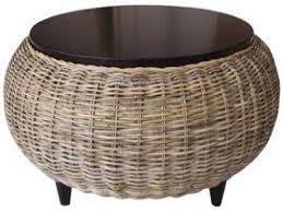 round rattan ottoman coffee table woven storage wicker ikea a77ea2aeba6