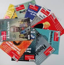 circle of a selection of copies of the economist from 2017