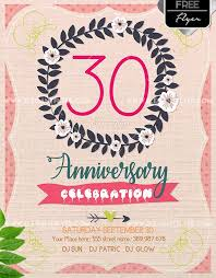 Free Anniversary Flyer Template Psdflyer Co
