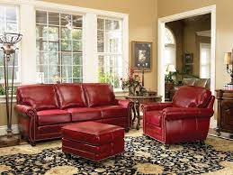 red leather sofa living room