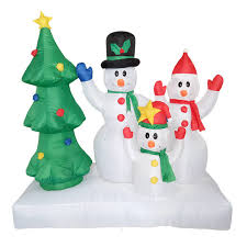1.8m Tall Inflatable Christmas Tree Santa Claus Decor X\u0027mas Outdoor Snowman Family Decorations