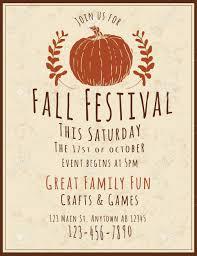 Fall Festival Flier Simple And Retro Hand Drawn Fall Festival Flyer