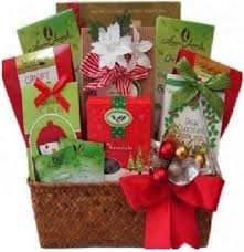 cocoa tea cookies gift basket