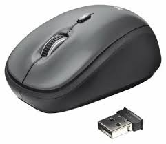<b>Мышь Trust Yvi Wireless</b> Mini Mouse Black USB — купить по ...