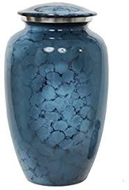 Decorative Urns For Ashes Amazon Memorials100u Forest Blue Cremation Urn for Human Ashes 90