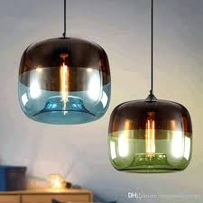 modern fresh blue and green color glass pendant lights lamp holder re para salon hanging light 1 light full sized led pendant in green lights