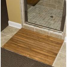 36 teak shower mat43