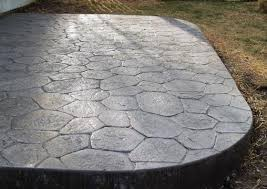 stamped concrete patio with stairs. Wonderful Patio Stamped Stained And Sealed Concrete Patio Slate Grey Charcoal Colors  With Extra Large With Stamped Stairs