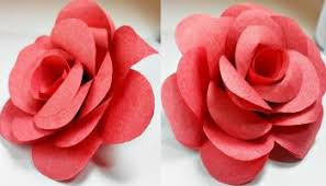 Paper Origami Flower Making How To Make A Paper Rose Easy For Kids Step By Step Crafts And Arts