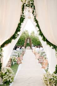 airy fabric greenery and ivory flowers for a spring garden wedding