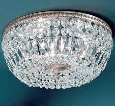 large brass crystal flush mount ceiling light facebook share