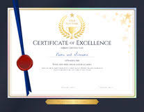 Award Of Excellence Certificate Template Elegant Certificate Template For Excellence Achievement Stock 58