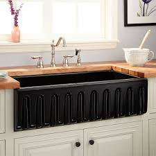 36 dorhester fireclay reversible farmhouse sink fluted a black